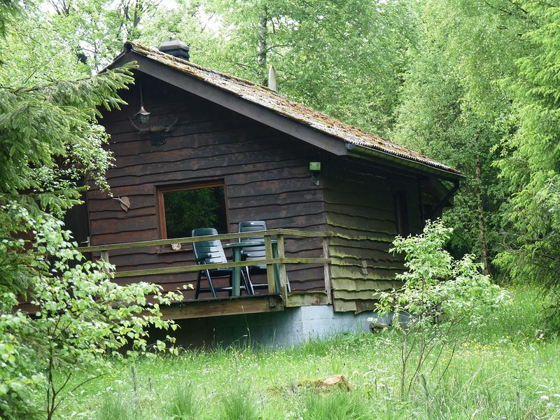 Rustic chalet in Sourbrodt with Terrace, holiday rental in Sourbrodt