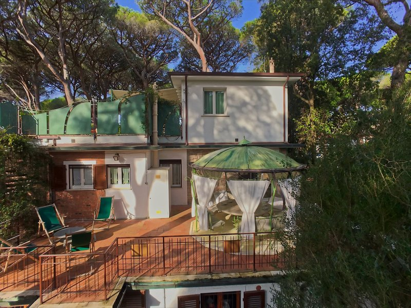 Large apartment located in a wooded area 300 meters from the private beach, vacation rental in Castagneto Carducci