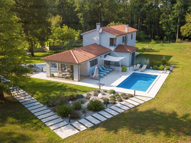 Charming Villa in Nedešcina with Pool, casa vacanza a Sumber