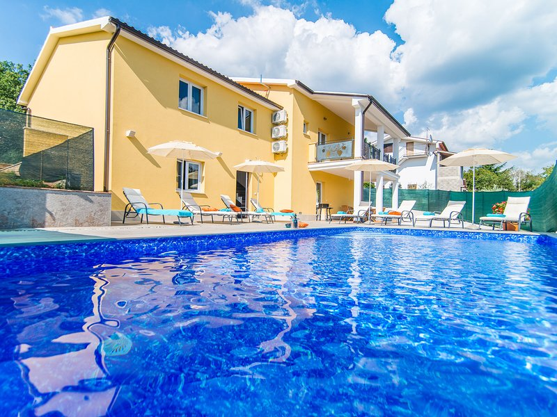 House with private pool for 10 people surrounded by vineyard in a quiet location, holiday rental in Diklici