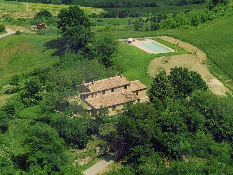 Farmhouse on a hill with swimming pool, large garden and nice views, holiday rental in Pratolungo