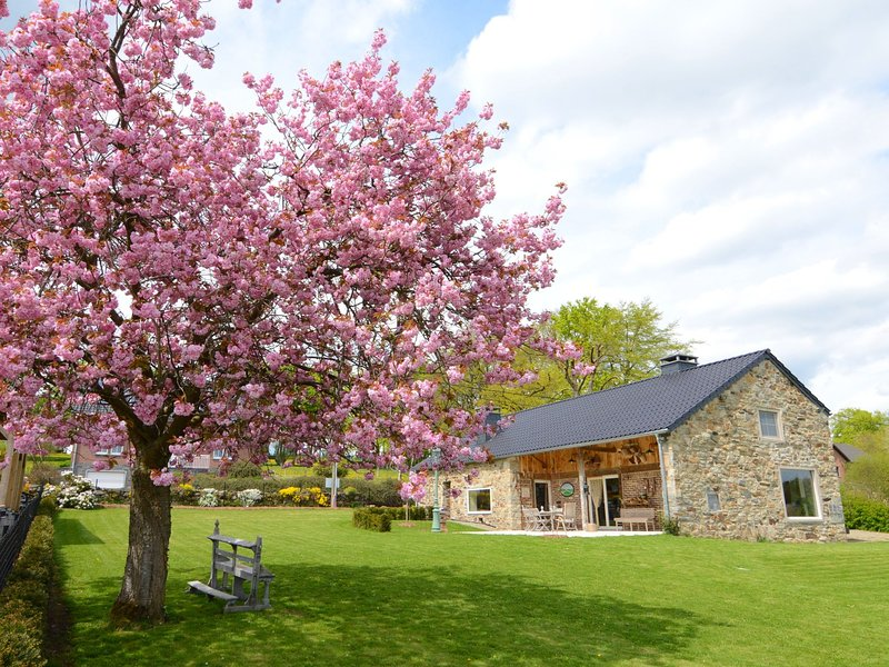 Beautiful stone cottage with panoramic views over the hills of the Ardens, holiday rental in Ligneuville