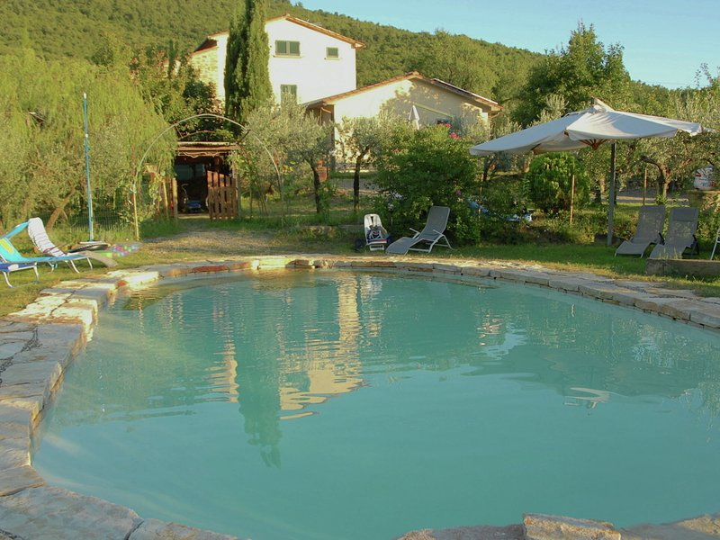 Views of Cortona, private pool, surrounded by olijbomen personal style, Ferienwohnung in Camucia