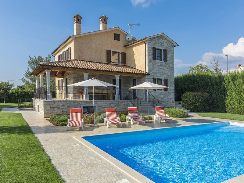 Modern Villa with Private Pool in Dubravci Croatia, holiday rental in Vidulini