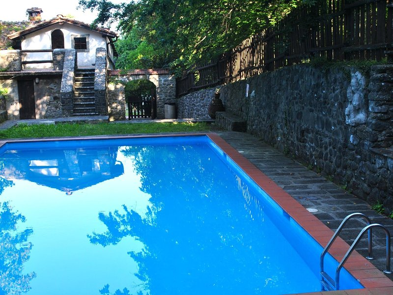 Old estate with all adorable holiday houses in the wooded hills, holiday rental in Lanciole
