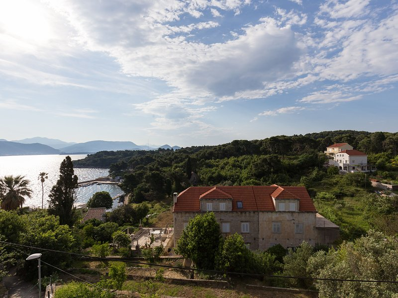 Charming island apartment+garden,70m from sandy beach and restaurant, free WI-FI, holiday rental in Kolocep Island