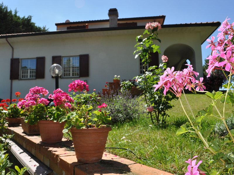 On top of a hill surrounded by greenery, close to town in a panoramic location, casa vacanza a Castellina Marittima