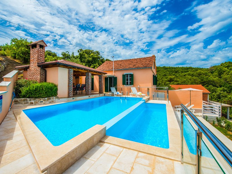 Spacious Villa in Mali Iž with Pool, aluguéis de temporada em Iz