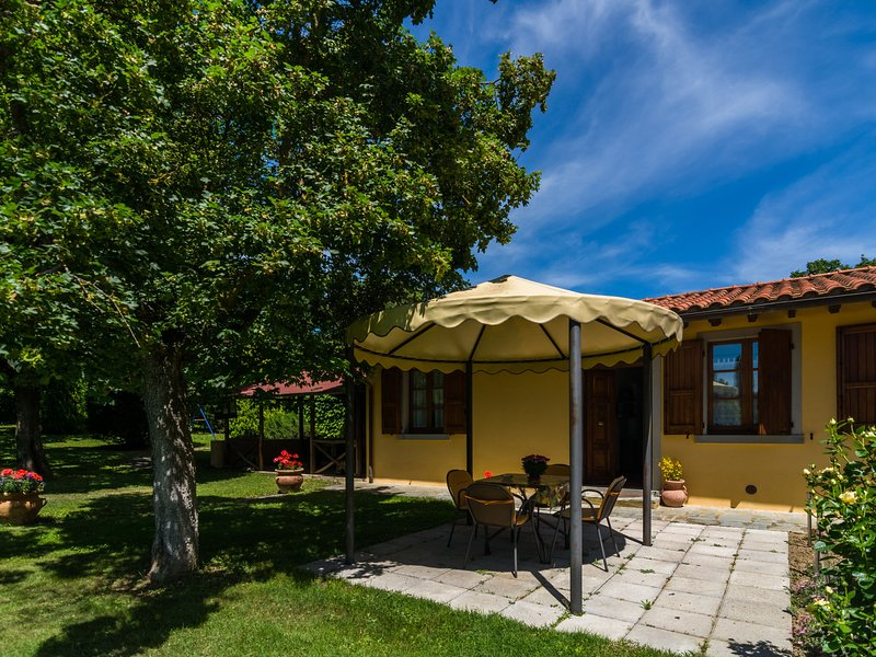 Farmhouse with garden, private terrace, panoramic swimming pool, organic wine, vacation rental in Pieve di Chio