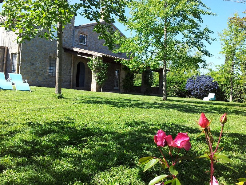 Holiday home with private garden at only 6km from Lake Bolsena, holiday rental in Zepponami