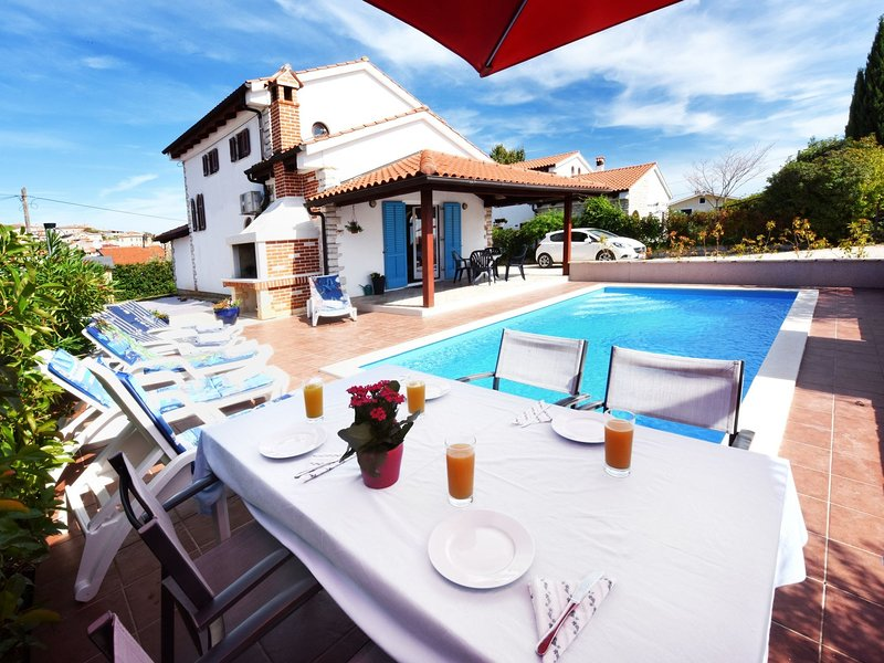 Nice holiday house with private pool and  roofed terrace !, holiday rental in Bacva