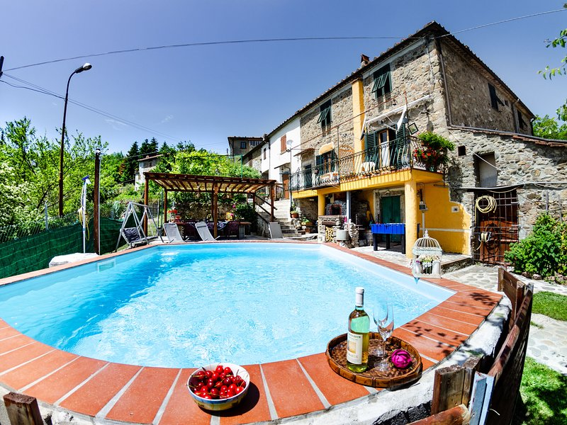 Tuscan style stone house with private pool and wifi, holiday rental in Castelvecchio