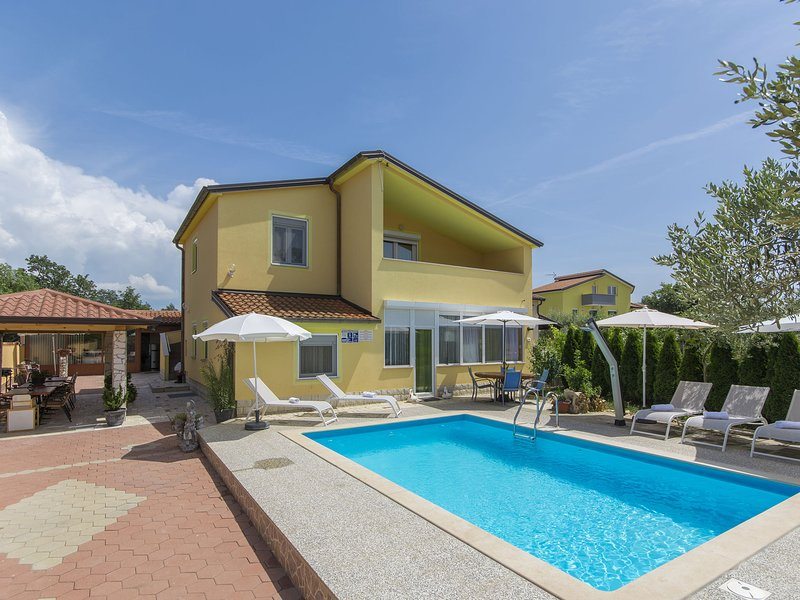 Modern apartment with pool, Wifi and air conditioning, ideal for a family, holiday rental in Nova Vas