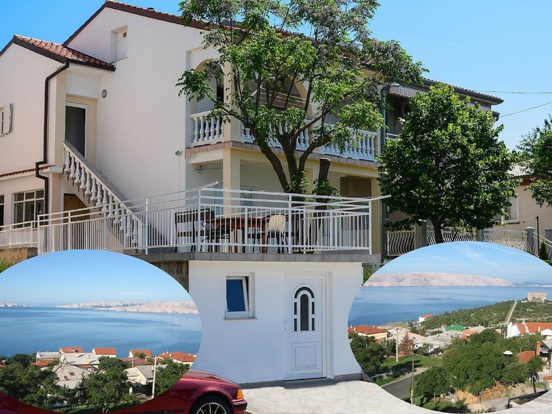 Large home with terrace,sea view and BBQ.For big families and group of friends !, holiday rental in Senj