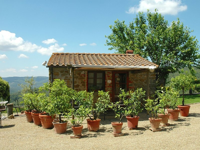 cottage on authentic hamlet. Nice terrace, swimming pool, lots of privacy., alquiler vacacional en Civitella in Val di Chiana