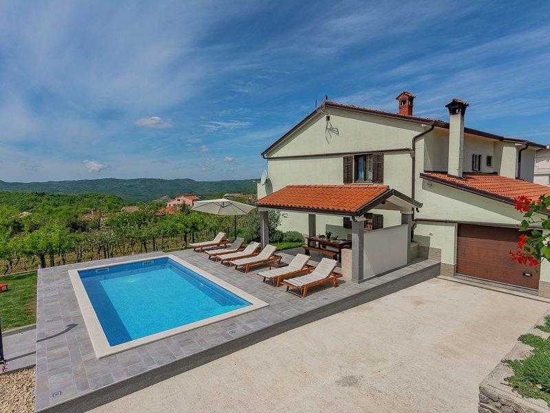 Spacious Apartment with Pool in Pazin, location de vacances à Krbune