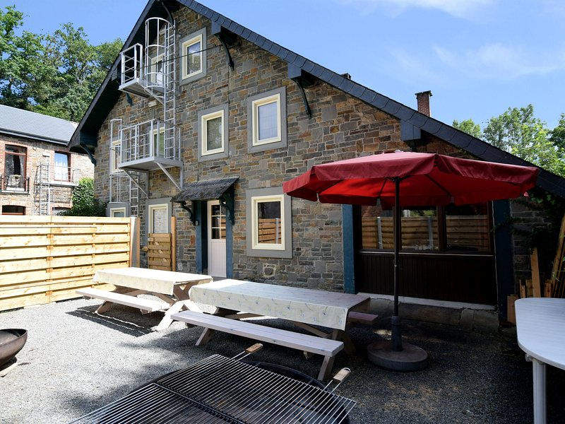 A charming and comfortable renovated house with garden and a large terrace, vacation rental in Marcourt