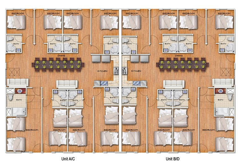 Together Resorts 9th Ave Resort Unidad D-floor plan