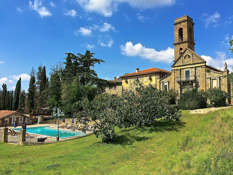 Old castle estate, surrounded by nature with a lovely private pool, holiday rental in Civitella in Val di Chiana