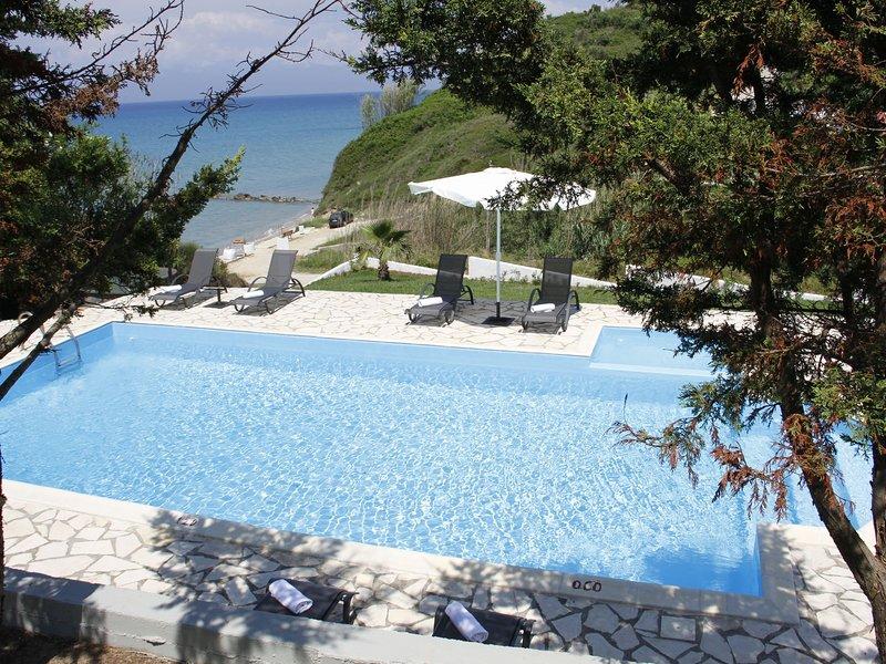 Spacious Villa on Sea in Corfu, holiday rental in Astrakeri