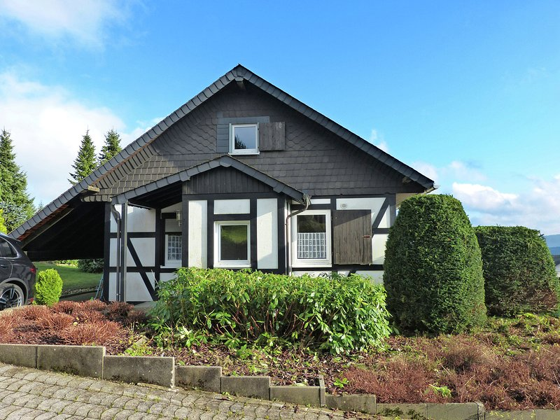 Detached holiday home in the Sauerland near Winterberg with terrace and garden, holiday rental in Langewiese