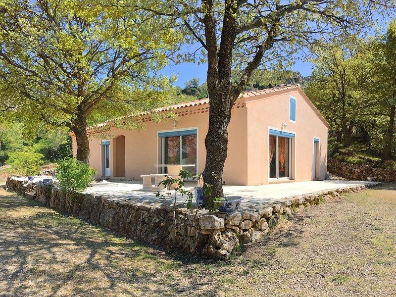 Holiday house with view on popular lake Lac de Ste. Croix, near Gorges de Verdon, vacation rental in La Palud sur Verdon