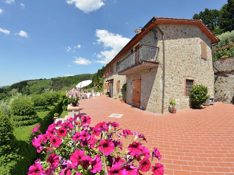 Amazing view over the hills, nearby Collodi (Pinocchio theme park), holiday rental in Villa Basilica