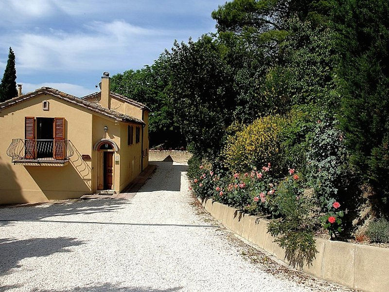 Farmhouse with swimming pool, beautiful views, among vineyards and olive groves, vacation rental in Angeli Stazione