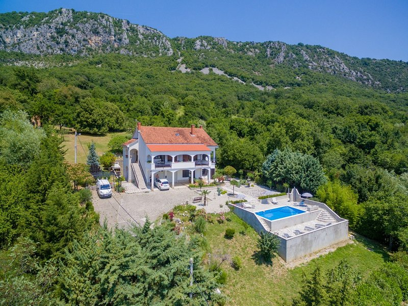 Nice home with private swimming pool and covered terrace !, holiday rental in Bribir