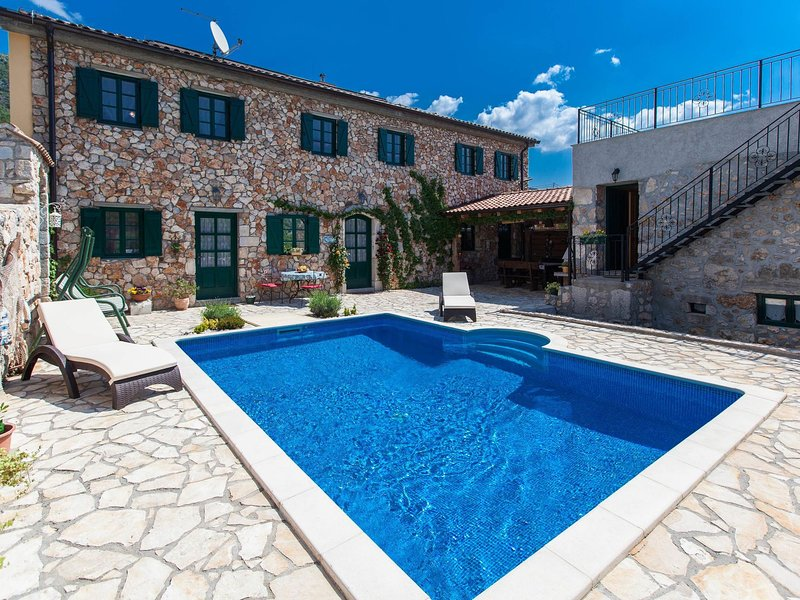 Authentic large villa with private swimming  pool and wellness !, holiday rental in Bribir