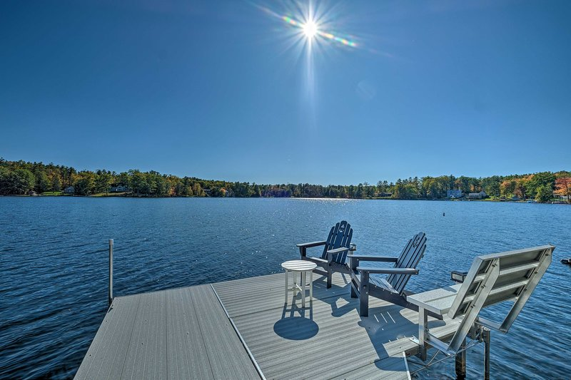 This vacation rental sleeps 4 guests and lies just steps from Crooked Lake.
