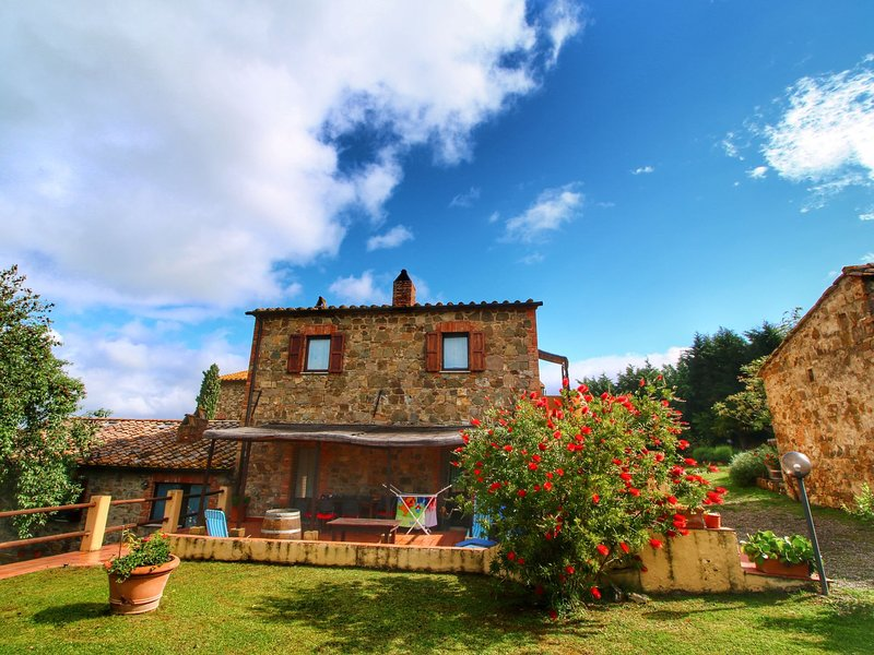 Authentic Tuscan holiday home on property with stunning views, vacation rental in Castelnuovo dell'Abate