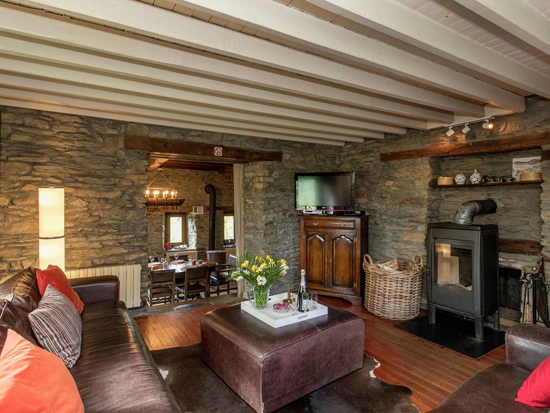 Detached holiday home with sauna and open fire, near Houffalize, holiday rental in Lullange
