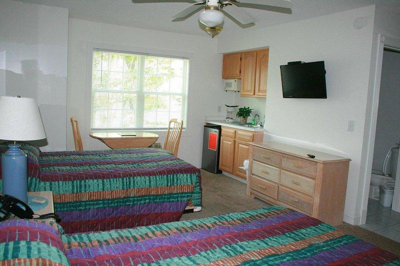 Ventilatore a soffitto, stanza, dentro, camera da letto, mobilia