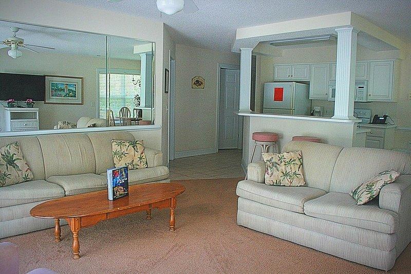 Salon, chambre, intérieur, meubles, revêtements de sol