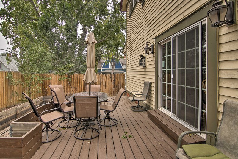 Enjoy long afternoons outside on the deck of this vacation rental!