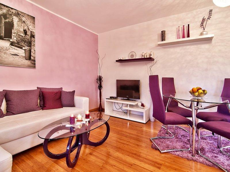 Sala de estar, quarto, piso, móveis