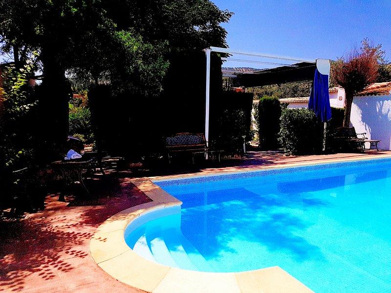 Villa Amparo, jardín, piscina, solarium, picnic, aire acondicionado,calefacción., vacation rental in Carcabuey