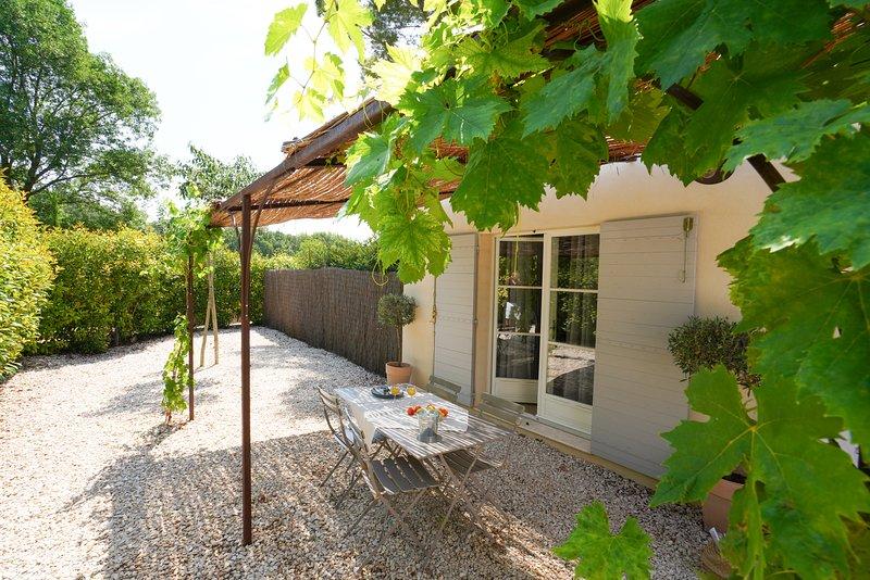 Jardín privado de la cabaña Zola