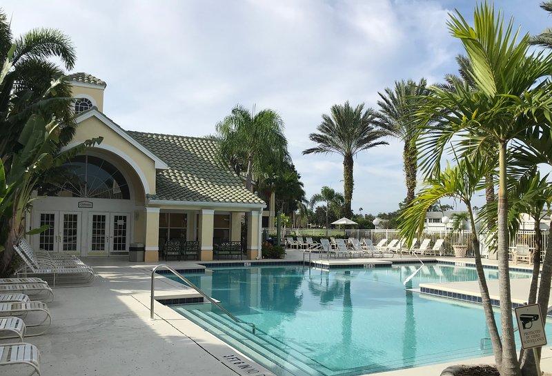 club house, main pool