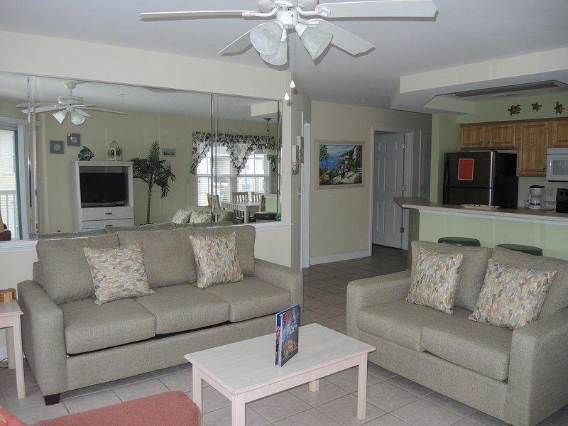 Sala de estar, interior, quarto, móveis, ventilador de teto