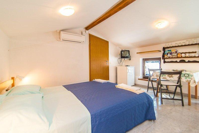 Chambre à coucher, chambre, intérieur, lit, meubles