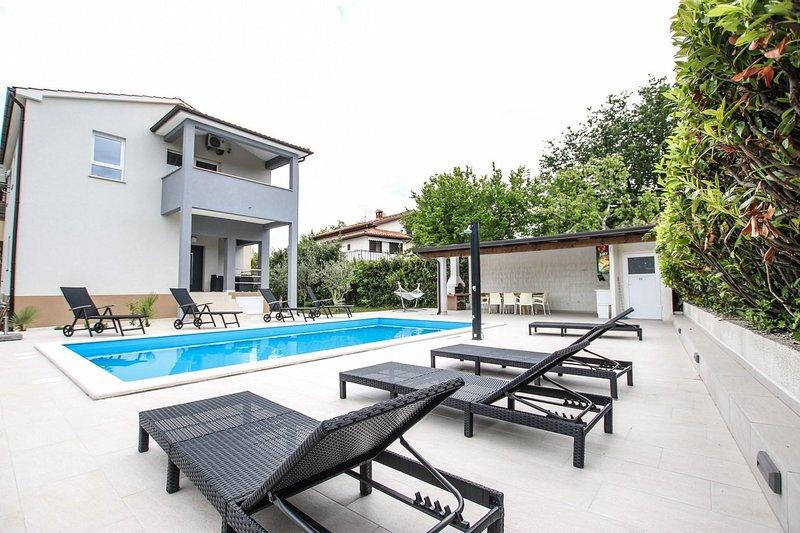 Acqua, piscina, casa, edificio, piscina