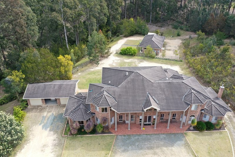 Shalimar - aerial view of both houses included in rates plus garages