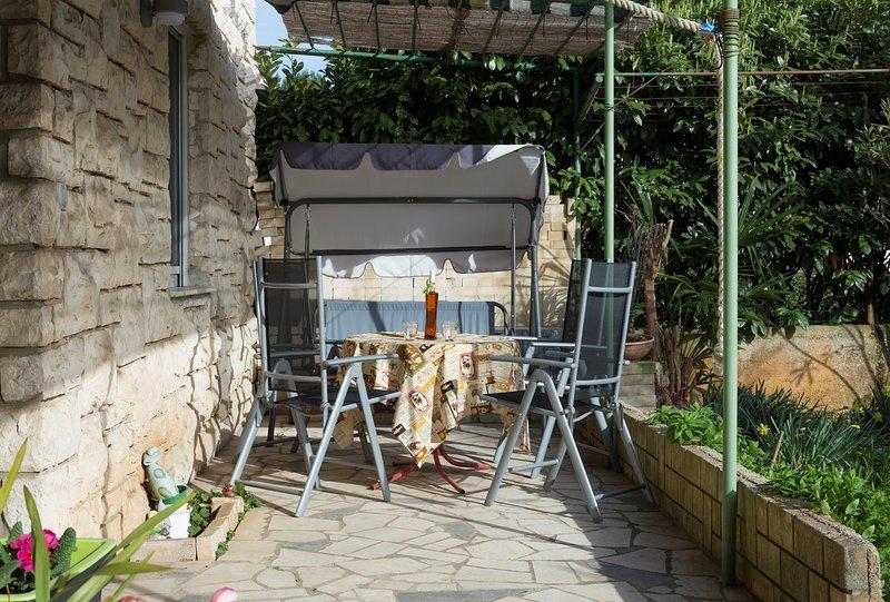 Flagstone,Patio,Porch,Pergola,Furniture