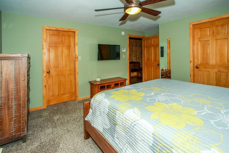 Ventilatore a soffitto, mobili, camera da letto, camera, interni