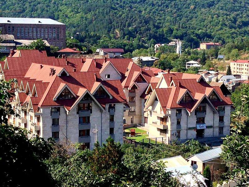 Bright, stylish, 100m2 apartment in city center - free parking, location de vacances à Tsakhkadzor