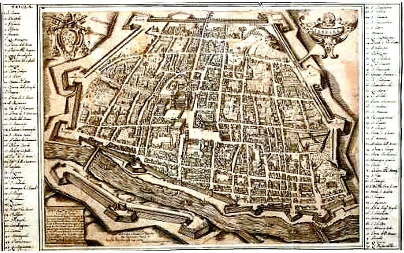 Ancien plan de la ville de Ferrare