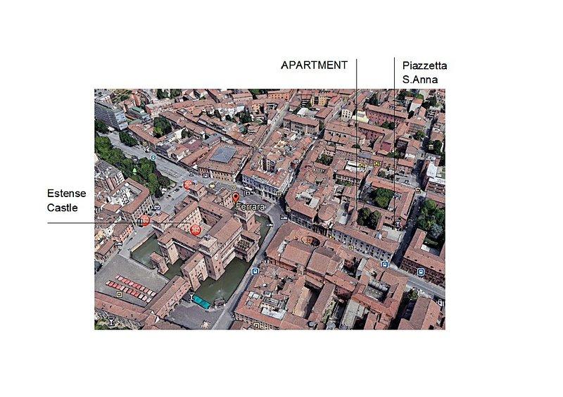 Position of the apartmen in th full center of Ferrara near Estense Castle