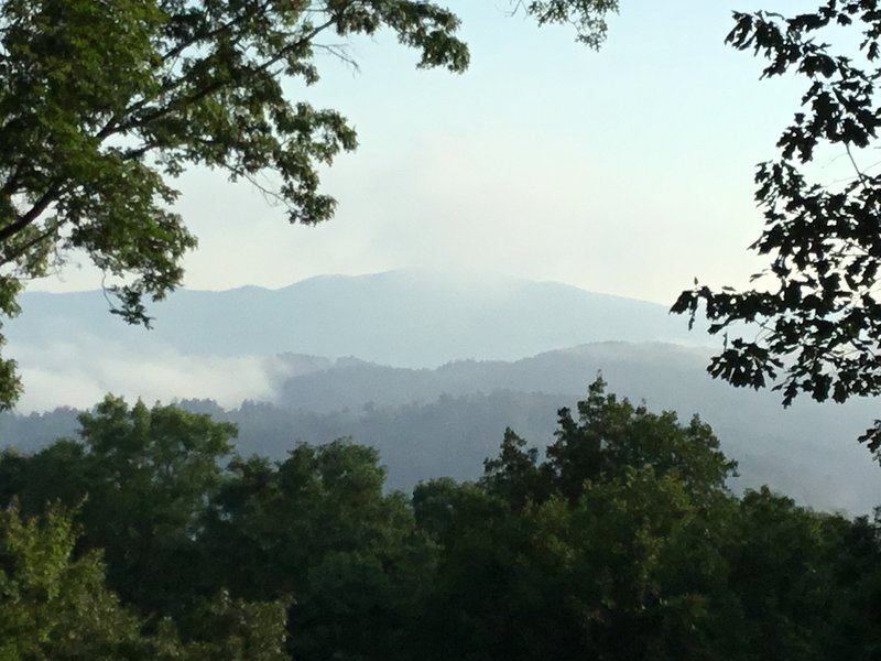 Enjoy smoky mountain views from The Lodge, in Bear Paw Resort.